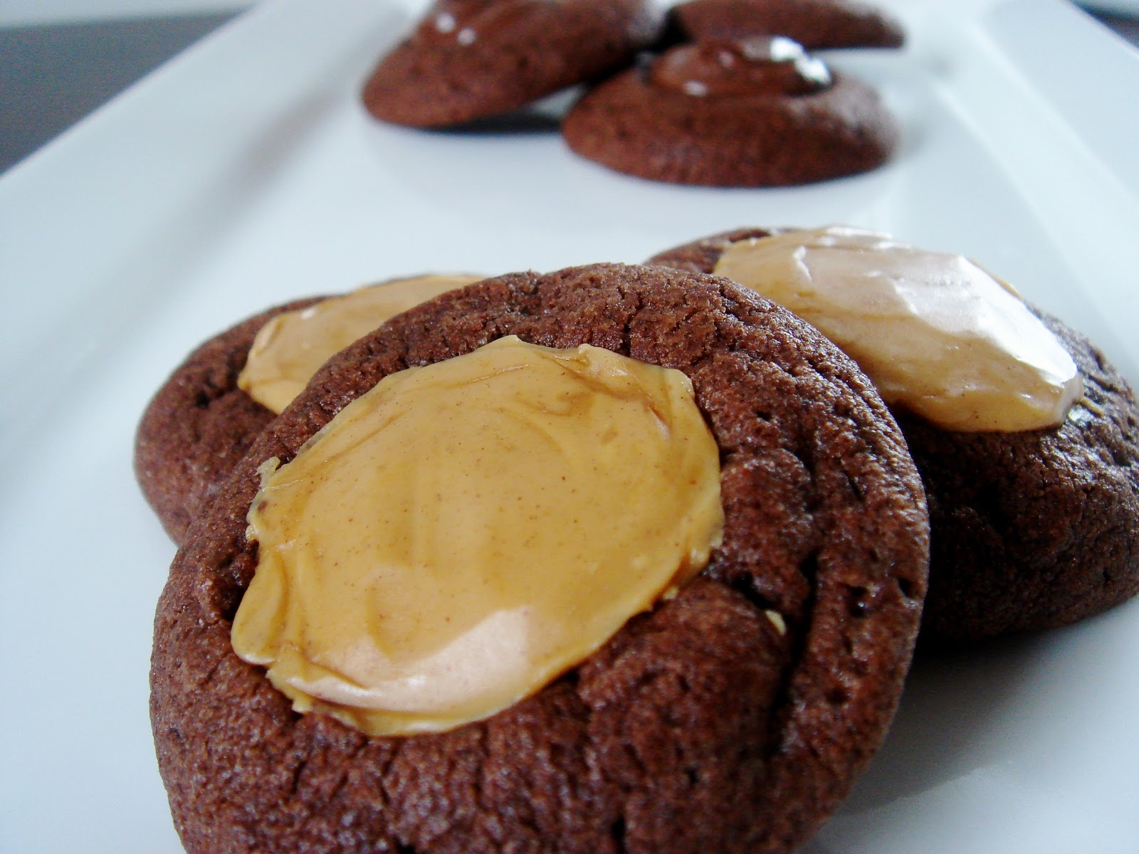 Peanut Butter Chocolate Thumbprint Cookies Recipes — Dishmaps