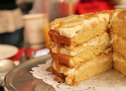 banana fudge slice